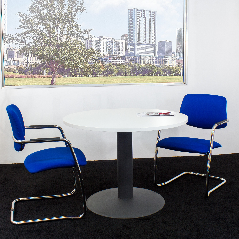 nova runder besprechungstisch esstisch k chentisch tisch wei rund 100 cm ebay. Black Bedroom Furniture Sets. Home Design Ideas