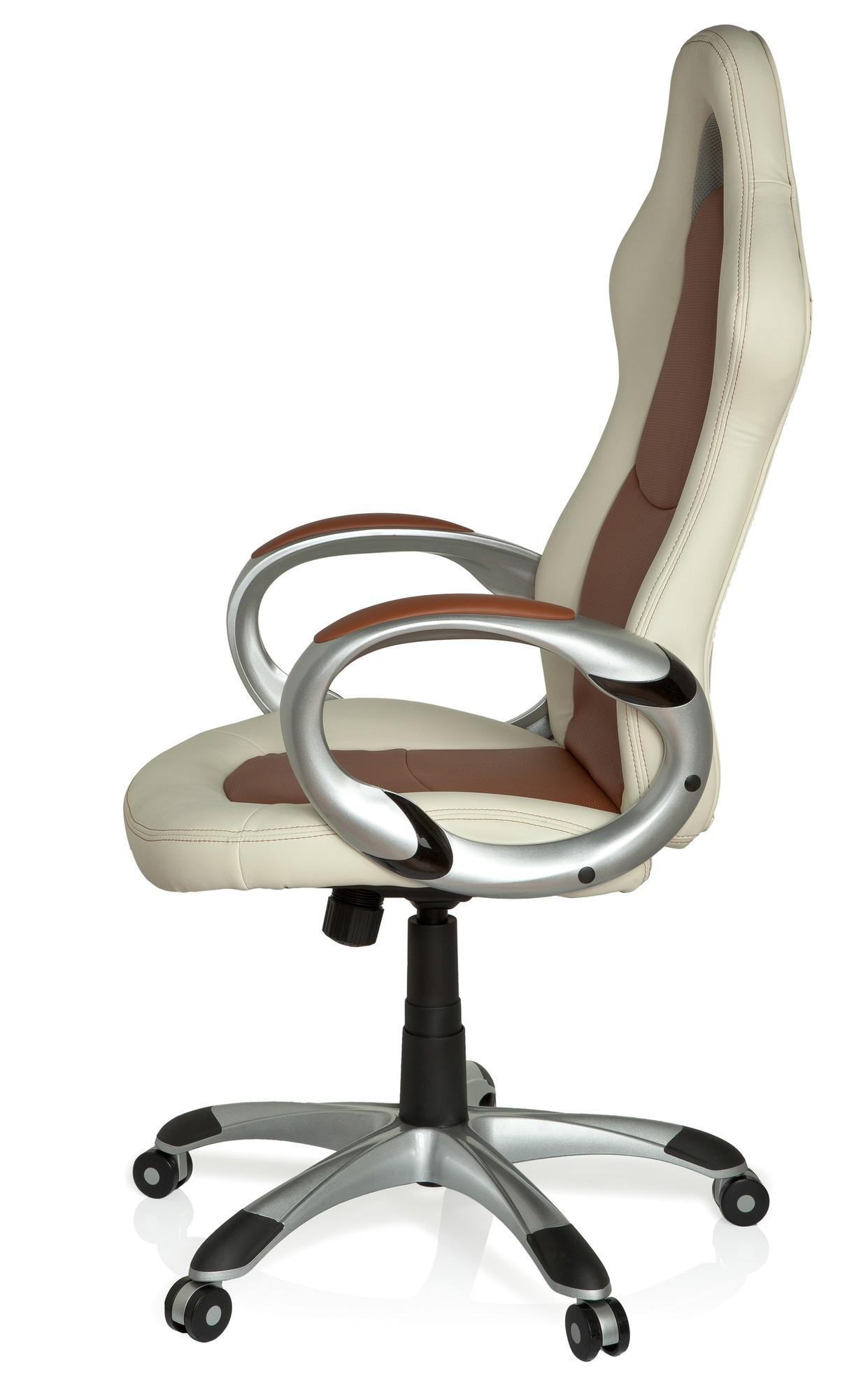 b rostuhl chefsessel miami sport elegance beige braun ebay. Black Bedroom Furniture Sets. Home Design Ideas