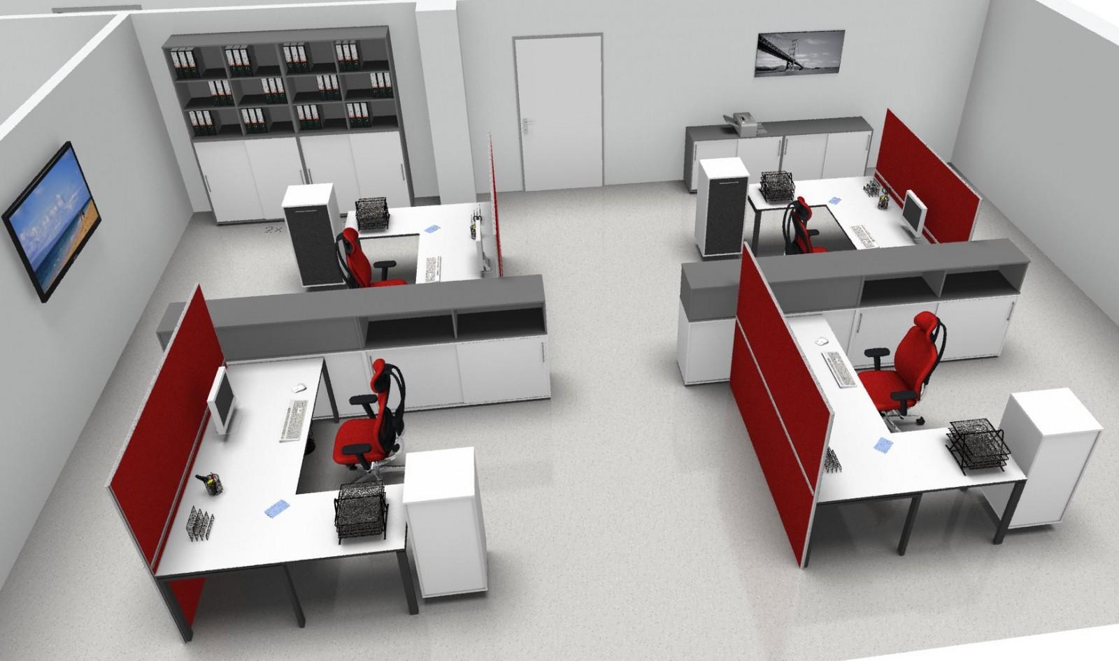 Büroeinrichtung planen  Kabelwanne UNI 1.100 x 100mm Bürotische Anbautische & Zubehör Zubehör