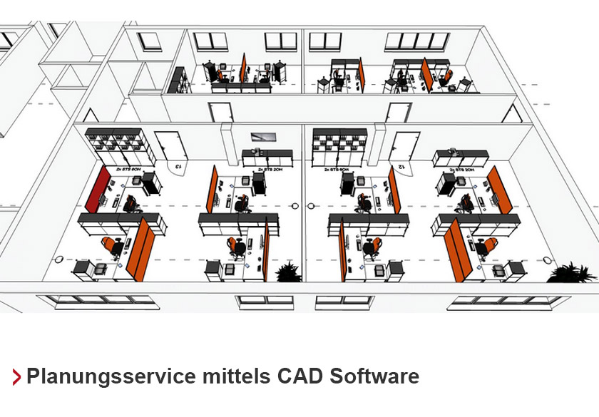 Planungsservice mittels CAD