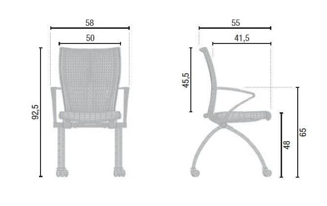 Besucherstuhl objektstuhl stuhl auf rollen klappbar for Stuhl design analyse