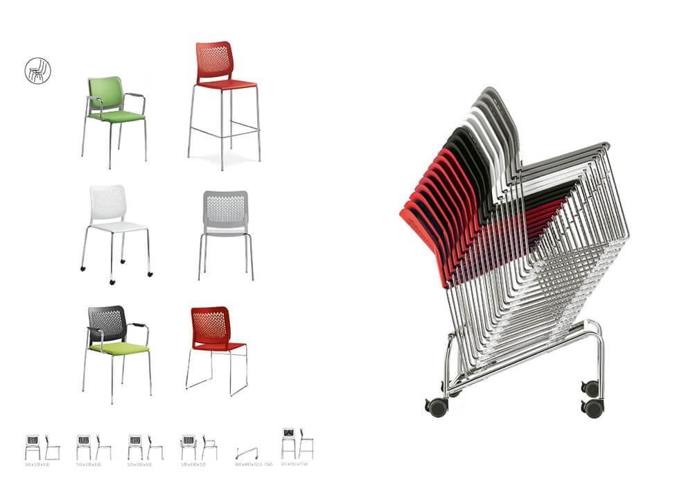 Bürodrehstühle Wait Kunststoffstühle
