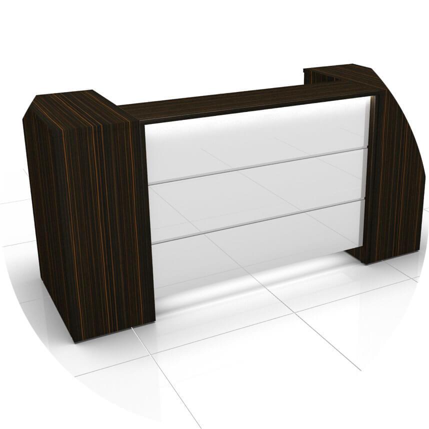 empfangstheke novum rv 3 wei mm led beleuchtung empfang empfangsm bel empfangstheken. Black Bedroom Furniture Sets. Home Design Ideas